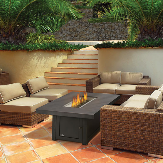 napoleon st tropez rectangle gas outdoor fire table