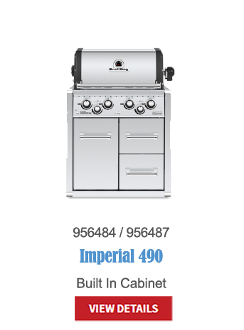 gas grills, bbq, napoleon, crown verity, broil king, built in bbq, outdoor kitchen, Imperial 490