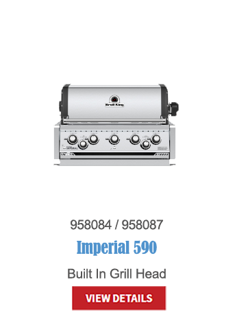 gas grills, bbq, napoleon, crown verity, broil king, built in bbq, outdoor kitchen, Imperial 590