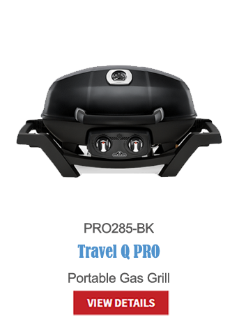 gas grills, bbq, napoleon, crown verity, broil king, portable bbq, camping bbq, travel Q pro PRO285-BK