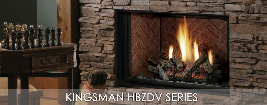 kingsman hbzdv series gas fireplace