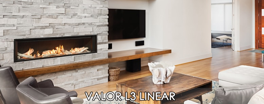 valor l3 gas fireplace modern