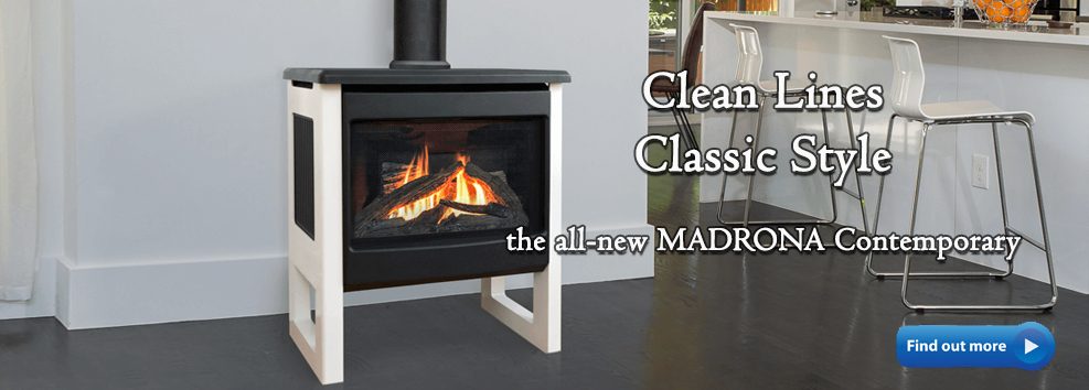 madrona contemporary gas stove valor
