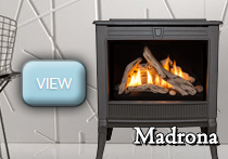 madrona contemporary stove gas