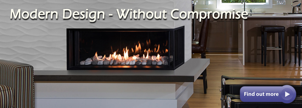 Valor LX2 corner fireplace 3 sided radiant heat gas direct vent